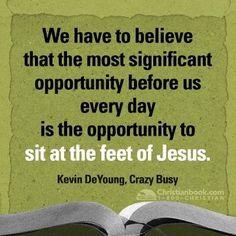 sit at Jesus feet